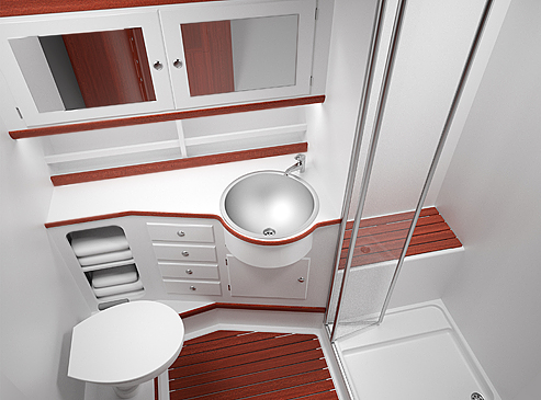 Yacht interior design 34ft sailing yacht aft cabin Small yacht bathroom design